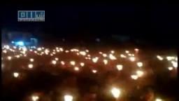 مسيرة المليون شمعة في درعا الابيه 16_ 4 سوريا 