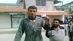 فيديو يظهر أحد الشبان الذين تم ضربهم في قرية البيضا _ سوريا.