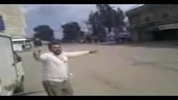 اطلاق النار بشكل عشوائى على المتظاهرين في الصنمين فى سوريا