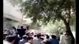 مظاهرات حماة - هتافات تحية للشيخين  القرضاوي والعرعور