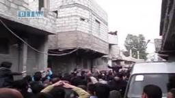 شام - ريف دمشق - ومظاهرات الجمعة العظيمة والتنديد والإحتجاج على قتل بشار الأسد الشعب السورى 22-4