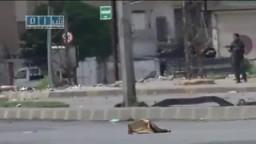 سوريا- حمص - قوات الأمن تطلق الرصاص بكثافة  على المتظاهرين
