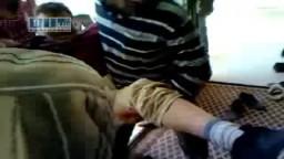 سوريا _برزة البلد - مصابين بالرصاص الحي بالجامع  23-4