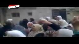 أصغر طفلة في سوريا تهتف ضد بشار الاسد من قلب دمشق