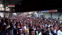 سوريا - جبل الشيخ - مظاهرات ضد بشار الاسد 