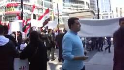مقابلة مع مواطن سوري في مظاهرة الجالية السورية فى كندا