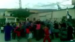 سوريا- مظاهرة للنساء والأطفال في سهل الغاب