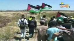 مسيرات في قطاع غزة ضد الجدار