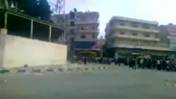 سوريا حرق شعبة الحزب بأريحا ادلب 20-5-2011