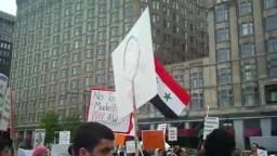 5-21  مضاهرات شيكاغو لاجل سورية