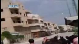 سوريا- معرة النعمان - إطلاق النار و الغاز ج2