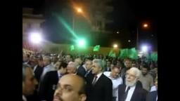 تحية العلم فى حفل افتتاح المركز العام لجماعة الإخوان المسلمين