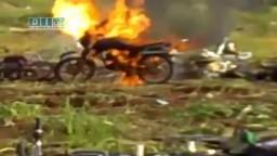 سوريا- حوران - طفس - إنتقام الأمن من موتورات الأهالي