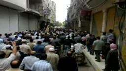 سوريا : تشييع الشهيد إياد شقيران في عربين 28-5-2011