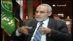 فضيلة المرشد العام الدكتور محمد بديع فى برنامج اتجاهات على التليفزيون المصرى ج1