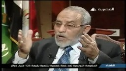 فضيلة المرشد العام الدكتور محمد بديع فى برنامج اتجاهات على التليفزيون المصرى ج3
