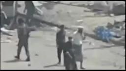 الثورة اليمنية-- صور الدمار الذي خلفته قوات الامن بساحة الحرية - تعز