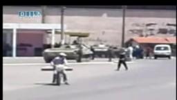 سوريا--حمص-دبابات الجيش تنتشر بساحة بابا عمرو 8-6