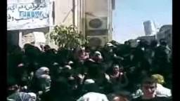 سوريا-- مظاهرات نسائية حاشدة بجمعة صالح العلي 17- 6