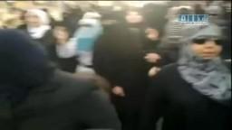 سوريا- حماه - بنات أبي الفداء بمظاهرة نسائية حاشده 19-6 ج3