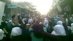 سوريا- حمص - شارع الدبلان - مظاهرة حرائر حمص 28-6-2011