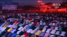 عشرات الآلاف بميدان التحرير ليلاً فى جمعة الثورة أولاً 8 يوليو