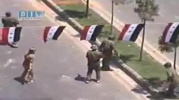 سوريا - حمص - ميليشيا بشار قمع و اطلاف نار - 8 يوليو