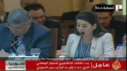 شام  قناة الجزيرة  رد د. عماد الدين رشيد على مهزلة مؤتمر اللقاء التشاوري