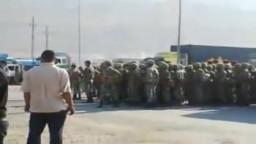 الجيش يفض اعتصام المتظاهرين علي طريق العين السخنة