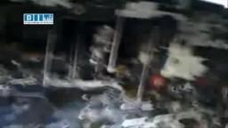 سوريا--  حرق مخازن الالبسة والسيارات برصاص عصابات الامن