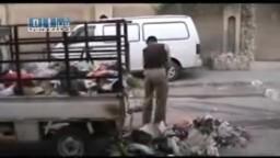 سوريا -حماه-حملة تنظيف لحماه من قبل المتظاهرين