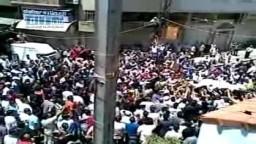 سوريا - دمشق - القابون - علم الاستقلال يرفرف بأحد القابون