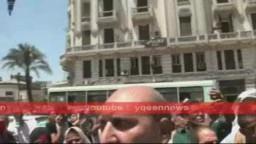 أمام محكمة النقض المتظاهرون يطالبون بمحاكمة مبارك