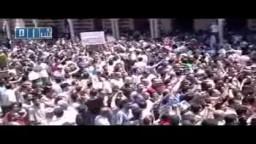 سوريا- حمص - زفاف الشهداء جامع خالد بن الوليد 19-7
