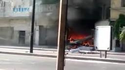 عصابات الإجرام الاسدي تقصف المحلات التجارية وتحرق المنازل