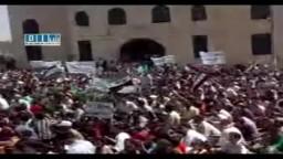 أهالي قرى جبل الزاويه يتظاهرون في كفرعويد