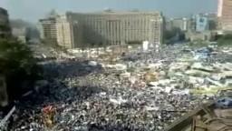 مشهد رأسى من ميدان التحرير فى جمعة وحدة الصف-29-7