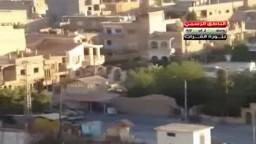 سوريا--  دير الزور شاهد قوات الجيش والدبابات تستبيح منطقة الحويقة