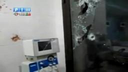 سوريا- حماة- قصف العناية المشددة بمشفى الحوراني
