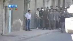دمشق - القابون - الهجوم على مظاهرة يوم العيد 30-8