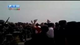 سوريا - درعا - انخل - الجيش يتحدى المتظاهرين