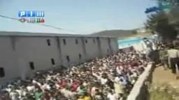 مظاهرة حاشدة في مخيمات اللاجئين نصرة لأخوانهم في