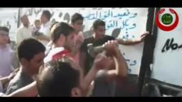  هدم الجدارمن أمام سفارة الصهاينة بالقاهرة مشهد