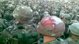 سوريا-- تجمع الجيش قبل اقتحام مدينة طفس