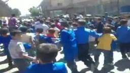 دمشق كناكر: مظاهرات طلاب واطفال الحرية للمطالبة بسقوط النظام 18 9 