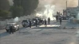 قوات القمع الأمنية التابعة لصالح 20-9-2011 تقمع مسيرة التضامن
