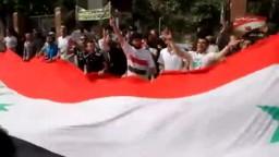 وقفة أمام جامعة الدول العربيه لتجميد عضوية النظام السوري