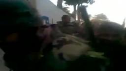 فيديو مسرب : اطلاق الرصاص عشوائيا من قبل قوات الاسد القمعية