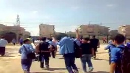 شام حماه غرب المشتل مظاهرات الطلاب الاحرار للمطالبة باسقاط النظام 26 9 2011