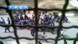 سوريا- دوما  قمع مظاهرة مدرسية من عصابات الأسد 29 9 2011